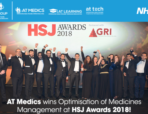 AT Medics award winners at HSJ Awards 2018